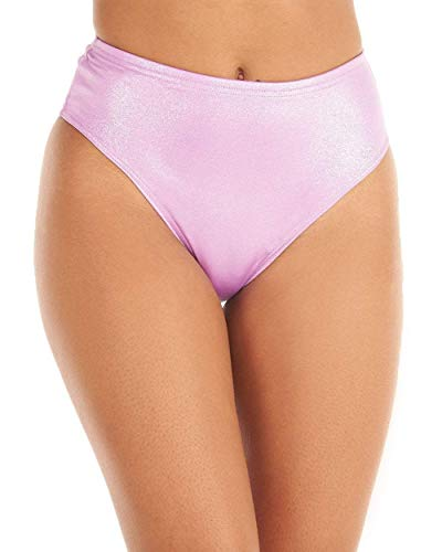 (iHeartRaves Lavender Twinkle in Your Eyes Sparkle High Waisted Shorts (2X-Large))