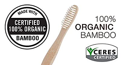 Bamboo Toothbrush Natural Wooden ECO Friendly Toothbrush Made with Bamboo Charcoal Infused Soft Bristles 4 Pcs (4)