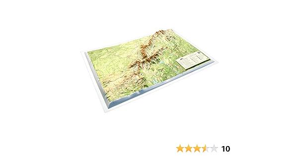 Mapa en relieve Sierra de Guadarrama: Escala 1:250.000: Amazon.es: All 3D Form S.L.: Libros