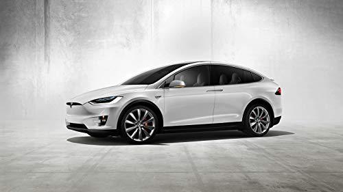 Tesla Model X Concept Car Poster Print (24x36 Inches) (Concept Car Poster)