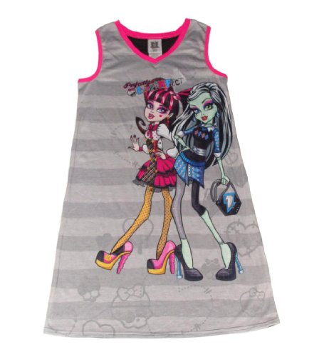 UPC 000716140120, Monster High Perfectly Imperfect Girls Nightgown (S (6/6X), Black/Pink/Grey)