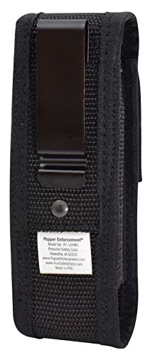 Pepper-Enforcement-Metal-Belt-Clip-Tactical-Holster-for-4-oz-Canisters-Pepper-Spray-Not-Included