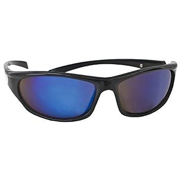 Trespass Paparazzi, Black, Sonnenbrille Metallischblaue Gläser mit UV-Schutz, Schwarz