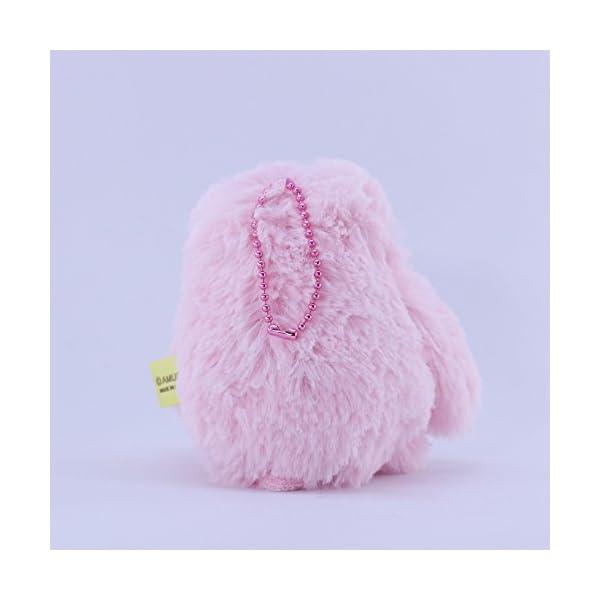Amuse Sloth Plush Namakemono Mikke Matarri Pink - Sloth Plush Ball Keychain 3.9&Quot; Height - Authentic Kawaii From Japan -