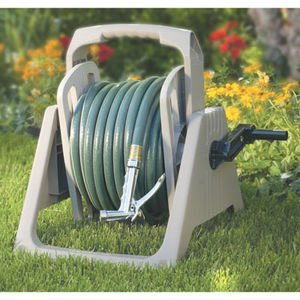 Sun-cast Hose-handler That Is Portable or Wall Mounted Hose