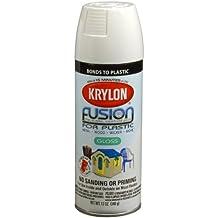 Krylon K02322007 Fusion for Plastic Spray Paint, Dover White