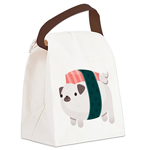 CafePress Nigiri Pug Canvas Lunch Handle