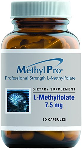 MethylPro - 5-MTHF L-Methylfolate 7.5 mg (7500 mcg) - High Potency Active Folate, 30 Capsules