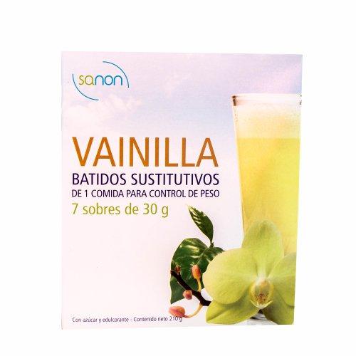 Sanon Batido Sustitutivo Vainilla - 2 Paquetes de 7 Unidades: Amazon.es: Salud y cuidado personal