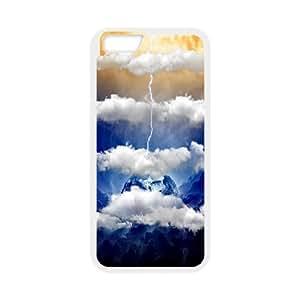 IPhone 6 Plus Cases, Protective Cute Cloud Bookshelf Cases for IPhone 6 Plus {White}