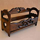 Multifunctional Wooden Spice Rack with,Modern Contemporary Style - Shelves for Spice Jars, Boxes, Jars