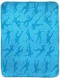Jay Franco Fortnite Emotes Blue Travel Blanket