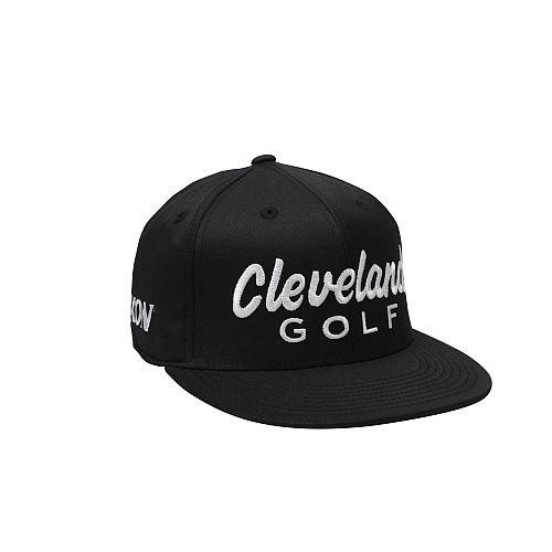 (Cleveland Golf Men's KB Tour Flat Bill Cap, Black, Small/Medium)
