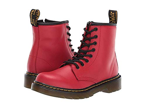 Dr. Martens Kid's Collection Unisex 1460 Delaney Boot (Little Kid/Big Kid) Satchel Red Romario 12 M UK -