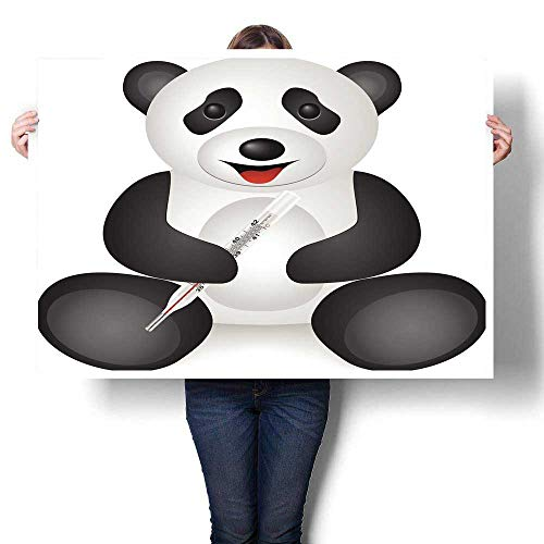 Anyangeight Poster Prints Panda Medical Thermometer Decorative Fine Art Canvas Print Poster K 36