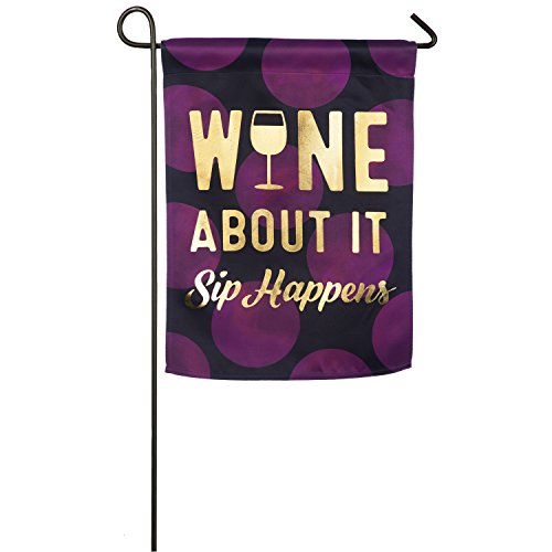 Evergreen Wine About It Outdoor Safe Double-Sided Suede Gard