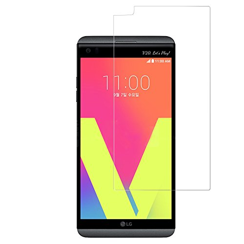 BONUM LG V20 Screen Protector,9H Hardness Anti-Scratch Anti-Fingerprint Premium HD Clear Ballistic Glass Case Friendly- 2 Pieces