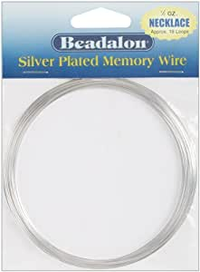 Silver Plated Memory Wire Necklace .5 Oz/Pkg-Appro SKU-PAS662655