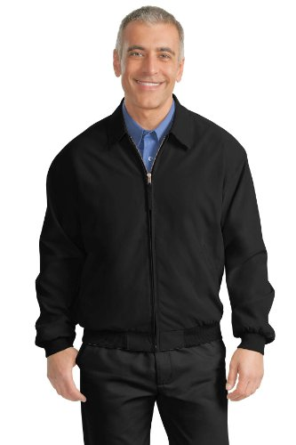 (Port Authority - Casual Microfiber Jacket. - Black/Solid Pewter Lining - XL)