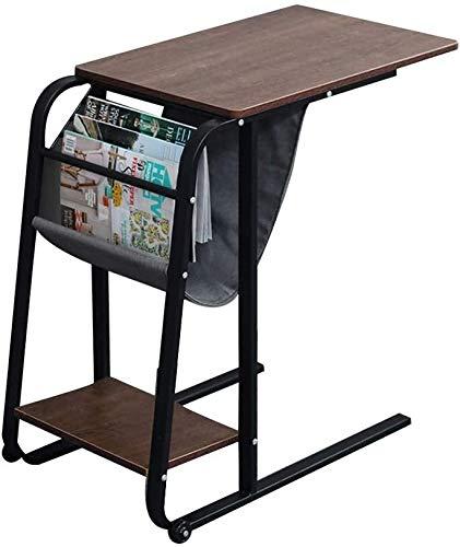 Lanlingwang Mesa Auxiliar Inicio sofa Mesa de Centro Redonda con la Cesta de Almacenamiento de Escritorio de la computadora movil -23.62X15.75X29.53In, Carga de 100 kg, B (Color : C)