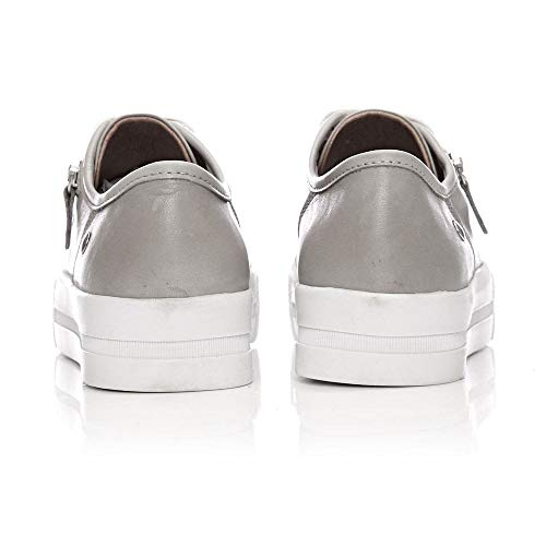 Donna Grey Grigio Sneaker Moda In Pelle q17Txgt
