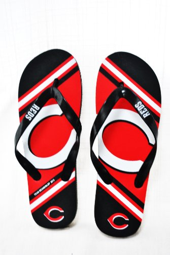 Cincinnati Reds 2013 MLB Unisex Flip Flop Beach Shoes Sandals slippers size Medium