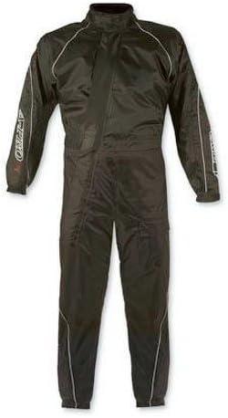 Motorcycle Motorbike Scooter 1 pc Waterproof Body Over Rain Suit Black XS
