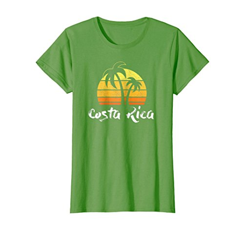 Womens Retro Costa Rica T-shirt Costa Rica Beach Shirt Large Grass