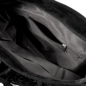 main franges a bandouliere de tendance femme porte noir a epaule Sac 5pOqnx6g