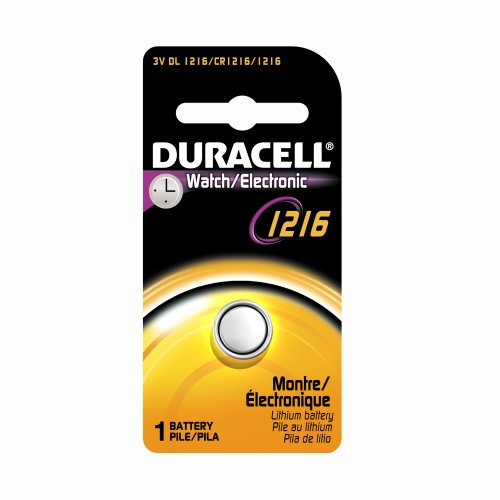 Duracell DL1216BPK04 Watch/Electronic Lithium Coin Battery, 1216 Size, 3V, 25 mAh Capacity (Case of 6)