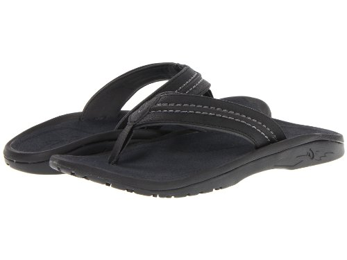 OluKai Hokua Sandal Men's Black/Dark Shadow 11 10161-4042