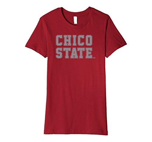 Womens Chico State University Wildcats T Shirt Csu 2 Large Cranberry