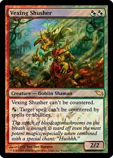 Magic the Gathering Shadowmoor VEXING SHUSHER Pre-Release Foil Rare x (Shadowmoor Foil)