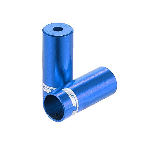 Lixada GUB 100pcs 4mm / 5mm Aluminio Aleación Bicicleta Desviador Cambio Freno Cable Cable Casquillo De Extremo Azul