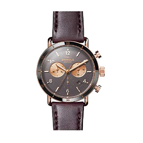 Shinola The Canfield Brown Dial Leather Strap Ladies Watch S0120089886