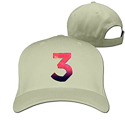 EJFSMQ Chance The Rapper 3 Logo Flat-Along Flatbrim Cap Graphic-Print Snapback Hats