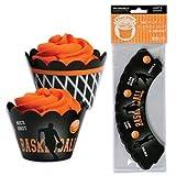 Bakery Crafts Basketball Cupcake Treat Wraps