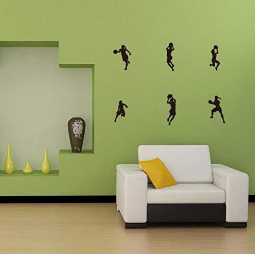 Dalxsh Football Player Women Football Wall Stickers Wall Mural Sweet Home Art Kids Room Decor 12x40cm]()