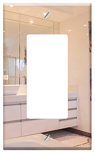 Switch Plate Single Rocker/GFCI - Bathroom Home - Mirrors Switch Bathroom Rocker