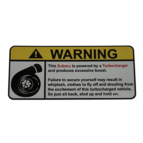 Warning Turbocharger, Warning decal, sticker