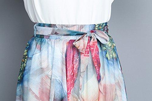 Taille Option Couleur Mode Soie t Imprime Fe Nouvelle Jupe Couleur Multi Jupe en lgante Grande Femmes Longue Jupe Taille Haute Longue en OMUUTR Nationale Mousseline de Robe lastique q4F84nT