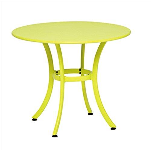 テラモト ガーデンテーブル900 パラソル穴無しタイプ #MZ-594-009 ブラウン B06XFCG63R 本体カラー:ブラウン