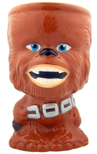 Star Wars Chewbacca Chewie Unique Collectible 5 3/4 Inch Ceramic Goblet Coffee Drink Mug Cup