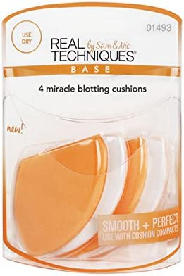 Real Techniques 4 Miracle Blotting Cushions (3 Pack): Amazon.es: Belleza