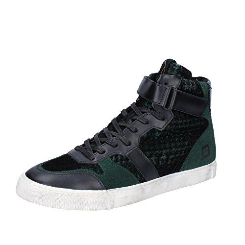 D.A.T.E. Date Sneakers Hombre 42 EU Verde Negro Textil Cuero Gamuza