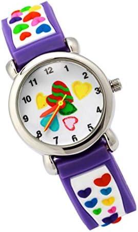 ساعة Hemobllo للأطفال ساعة كرتونية ثلاثية الأبعاد رائعة كوارتز بنمط قلب الحب للأطفال الصغار هدية للأطفال والبنات والأولاد 20 2 7cm بنفسجي Amazon Ae