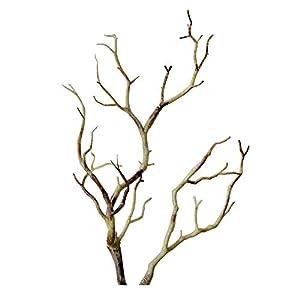 6 Packs Manzanita Dry Artificial Fake Foliage Plant Tree Branch, Wedding Home Office Plants D¨¦cor Shooting Props Brown