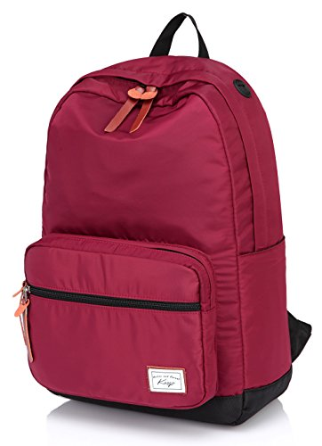 school-backpack-for-collegekasqo-waterproof-eco-nylon-padded-156-inch-laptop-casual-day-pack-wine-re