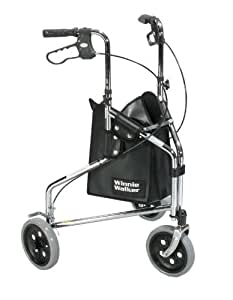 drive medical winnie walker deluxe three wheel rollator chrome health personal care. Black Bedroom Furniture Sets. Home Design Ideas