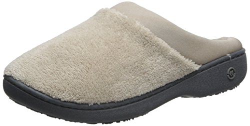 for Terry Women's Satin Comfort Stone Foam ISOTONER Slipper and Outdoor On Memory Cushioned with Slip Indoor Pqdxx5wA